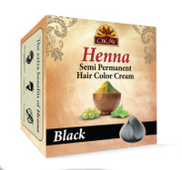 Henna Semi-Permanent Hair Color Cream - Black -Provides Rich Vibrant Color-  Adds Nourishing Properties - Leaves Hair Soft And Shiny- For All Hair Types & Textures- Made In USA  2 oz
