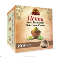 Henna Semi-Permanent Hair Color Cream - Brown -Provides Rich Vibrant Color-  Adds Nourishing Properties - Leaves Hair Soft And Shiny- For All Hair Types & Textures- Made In USA  2 oz