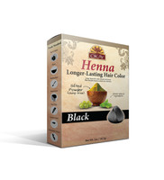 Henna Longer-Lasting Hair Color - Black-Provides Rich Vibrant Color-  Adds Nourishing Properties - Leaves Hair Soft And Shiny- For All Hair Types & Textures- Made In USA 2oz/56.7gr