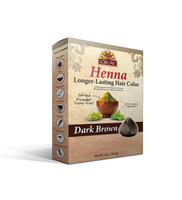 Henna Longer -Lasting Hair Color - Dark Brown- Provides Rich Vibrant Color-  Adds Nourishing Properties - Leaves Hair Soft And Shiny- For All Hair Types & Textures- Made In USA 2oz/56.7gr