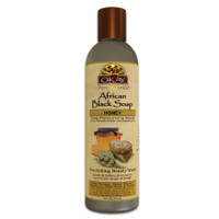 OKAY African Black Soap Liquid with Honey- For Cleansing & Treating Skin Conditions- Helps Achieve Beautiful, Healthier Looking Skin- Sulfate, Silicone, Paraben Free For All Skin Types - Made in USA 8oz / 237ml