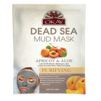 Dead Sea Mud Mask Apricot & Aloe- Helps Cleanse, Moisturize And Reinforce Skin's Natural Protective Barrier - Nourishes & Replenishes- Promotes Healthy Skin- Made In USA 1.50 fl.oz /44ml
