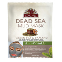 Dead Sea Mud Mask Green Tea & Tamanu- Provides Healthy Dose Of Antioxidants - Helps Keep Skin Youthful- Helps Reduce Fine Lines- Restores Skin's Elasticity - Nourishes & Replenishes- Promotes Healthy Skin- Made In USA 1.50 fl.oz /44ml
