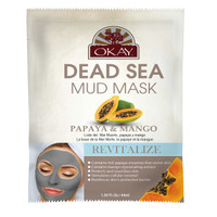 Dead Sea Mud Mask Papaya & Mango- Revitalizes And Provides Enzymes That Sustain Skin - Nourishes & Replenishes- Promotes Healthy Skin- Made In USA 1.50 fl.oz /44ml