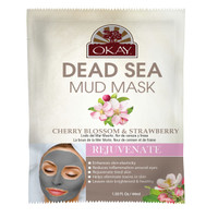Dead Sea Mud Mask Cherry Blossom & Strawberry- Repairs The Skins Natural Barriers -  Promotes Smooth And Supple Skin - Nourishes & Replenishes- Promotes Healthy Skin- Made In USA 1.50 fl.oz /44ml
