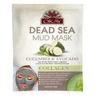 Dead Sea Mud Mask Cucumber & Avocado- Tightens, Detoxifies And Hydrates Dry, Tired Overworked Skin. - Nourishes & Replenishes- Promotes Healthy Skin- Made In USA 1.50 fl.oz /44ml