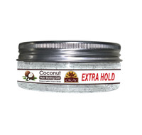 Coconut Hair Gel - Extra Hold -Healthy Conditioning Shine, Leaves Hair Smooth, Conditions Hair- No flakes, No stick, No Itch, And Alcohol-Free, For All Hair Types And Textures - Made in USA   5 oz