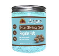 Argan Hair Gel  -Regular Hold- Healthy Conditioning Shine, Leaves Hair Smooth, Conditions Hair- No flakes, No stick, No Itch, And Alcohol-Free, For All Hair Types And Textures - Made in USA   34.5 oz