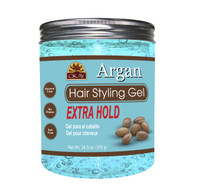 Argan Hair Gel - Extra Hold - Healthy Conditioning Shine, Leaves Hair Smooth, Conditions Hair- No flakes, No stick, No Itch, And Alcohol-Free, For All Hair Types And Textures - Made in USA   - 34.5 oz