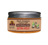 Black Jamaican Castor Oil Hair Gel - Extra Hold -  Healthy Conditioning Shine, Leaves Hair Smooth, Conditions Hair- No flakes, No stick, No Itch, And Alcohol-Free, For All Hair Types And Textures - Made in USA  7.25 oz