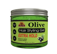 Olive Hair Gel Extra Hold - 17 oz