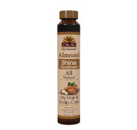 OKAY Almond Dry Hair & Scalp Care Shine Treatment - Soft, Smooth, Enhanced Shine And Strong Hair - Created With 12 Natural Oils - No Parabens, No Silicones, No Artificial Colors  - For All Hair Types And Textures - Made in USA 0.6 oz/18 ml