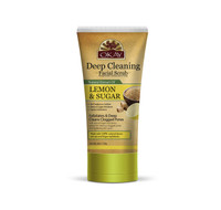 Deep Cleaning Lemon and Brown Sugar Facial Scrub- Helps Clear Blemishes, Deep Cleans Pores, Leaves Skin Smooth - Alcohol, Sulfate, Paraben Free - Made in USA 6oz/ 170g