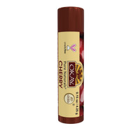 Organic Flavor Lip Balm Tube - Cherry - Formulated With Organic Ingredients - Helps Moisturize, Soothe, And Protect Lips-  Silicone, Paraben Free For All Skin Types - Made in USA 0.15oz/4gr