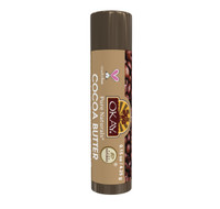 Organic Flavor Lip Balm Tube - Cocoa Butter - Formulated With Organic Ingredients - Helps Moisturize, Soothe, And Protect Lips-  Silicone, Paraben Free For All Skin Types - Made in USA 0.15oz/4gr