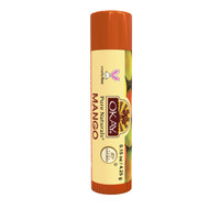 Organic Flavor Lip Balm Tube - Mango - Formulated With Organic Ingredients - Helps Moisturize, Soothe, And Protect Lips-Silicone, Paraben Free For All Skin Types - Made in USA 0.15oz/4gr