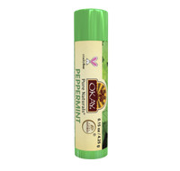 Organic Flavor Lip Balm Tube - Peppermint - Formulated With Organic Ingredients - Helps Moisturize, Soothe, And Protect Lips- Silicone, Paraben Free For All Skin Types - Made in USA 0.15oz/5gr