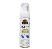 OKAY All Natural Baby Foaming Hand Sanitzer with Organic Ingredients - Alcohol Free, Kills 99.9% Of Germs While Moisturizing & Protecting Baby's Skin - Sulfate, Silicone, Paraben Free For All Skin Types - Made in USA 8oz