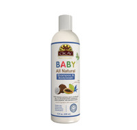 OKAY All Natural Baby Shampoo & Body Wash with Organic Ingredients - Helps Gently Cleanse, Nourish, And Soften Baby's Skin And Hair - Sulfate, Silicone, Paraben Free For All Skin & Hair Types - Made in USA 12 oz