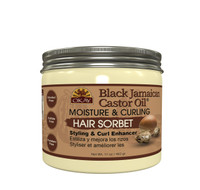 OKAY Black Jamaican Castor Oil® Curl Enhancing Hair Sorbet- For Styling & Curl Enhancing  -For Smooth, Glossy, Frizz Free, Strong & Well Defined Curls- Alcohol, Sulfate, Paraben Free- Made in USA 17 oz