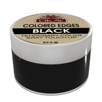 OKAY Black Colored Edges  - No Flaking  All Day Hold - Conceals Gray New Growth Plus Edge Control - For Hairline, Sideburns - Silicone, Paraben Free For All Hair Types and Textures -  Made in USA 1oz