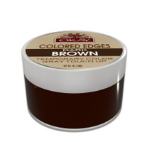 OKAY Dark Brown Colored Edges  - No Flaking  All Day Hold - Conceals Gray New Growth Plus Edge Control - For Hairline, Sideburns - Silicone, Paraben Free For All Hair Types and Textures -  Made in USA 1oz