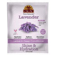 OKAY Lavender Shine & Hydration Leave In Conditioner Packet– Helps Replenish, Nourish, And Hydrate Hair - Sulfate, Silicone, Paraben Free For All Hair Types and Textures- Made in USA 1.5oz