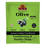 OKAY Olive Conditioning and Healthy Shine Leave In Conditioner Packet – Helps Nourish, Condition, And Hydrate Hair - Sulfate, Silicone, Paraben Free For All Hair Types and Textures  -  Made in USA 1.5oz