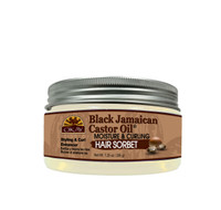 OKAY Black Jamaican Castor Oil® Curl Enhancing Hair Sorbet- For Styling & Curl Enhancing - For Smooth, Glossy, Frizz Free, Strong & Well Defined Curls  - Alcohol, Sulfate, Paraben Free - Made in USA 7.25 oz