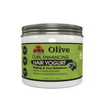 Olive Curl Enhancing Hair Yogurt -  For Styling  & Curl Enhancing-  For Smooth, Glossy, Frizz Free, Strong & Well Defined Curls - Alcohol, Sulfate, Paraben Free - Made in USA17 oz