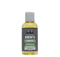 OKAY Men's All Natural Hair Oil - Formulated For Men, Helps Nourish, Moisturize, Soften, Hair & Beard -Silicone, Paraben Free For All Hair Types & Textures. Made in USA - 4oz
