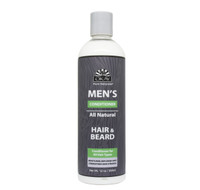 OKAY Men's All Natural Hair & Beard Conditioner - Formulated For Men, Helps Moisturize, Replenish, Strengthen, And Restore Hair & Beard -Sulfate, Silicone, Paraben Free For All Hair Types & Textures. Made in USA - 12oz