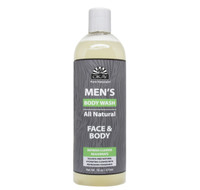 OKAY Men's All Natural Face & Body Wash - Formulated For Men, Helps Refresh, Hydrate, Cleanse, and Rejuvenate Skin -Sulfate, Silicone, Paraben Free For All Skin Types. Made in USA - 16oz