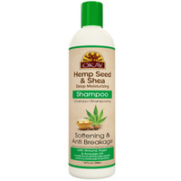 OKAY Hemp Seed & Shea Softening & Anti Breakage Shampoo- Helps Stimulate Hair Growth, Moisturize Hair & Scalp, Prevents Breakage - Sulfate, Silicone, Paraben Free For All Hair Types and Textures - Made in USA 12oz 355ml
