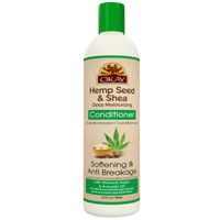 OKAY Hemp Seed & Shea Softening & Anti Breakage Conditioner - Helps Stimulate Hair Growth, Moisturize Hair & Scalp, Prevents Breakage - Sulfate, Silicone, Paraben Free For All Hair Types and Textures - Made in USA 12oz 355ml