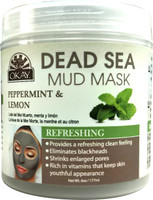 Dead Sea Mud Mask Peppermint & Lemon - Minimizes Appearance Of Enlarged Pores - Nourishes & Replenishes- Promotes Healthy Skin- Sulfate, Silicone, Paraben Free For All Skin Types - Made In USA 6 fl.oz /177ml