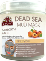 Dead Sea Mud Mask Apricot & Aloe - Helps Cleanse, Moisturize And Reinforce Skin's Natural Protective Barrier - Nourishes & Replenishes- Promotes Healthy Skin- Sulfate, Silicone, Paraben Free For All Skin Types -Made In USA 6 fl.oz /177ml