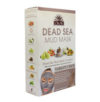 Dead Sea Mud Mask Variety 5 Pack -Improves Appearance Of Skin- Helps Minimize Pores-Deeply Hydrates Skin- Reduces Look Of Fine Lines & Wrinkles -  Nourishes & Replenishes- Promotes Healthy Skin-  For All Skin Types- Made In USA   1.50 fl.oz /44ml