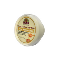 OKAY 100% Natural Honey and Almond Body Butter- Deep Moisturizing - Great Skin Moisturizer- Restores Moisture To Dry Damaged Skin - Reduces Skin Damage-Heals & Nourishes -Made In USA 1oz