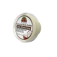 OKAY 100% Natural Coconut Butter- Deep Moisturizing - Great Skin Moisturizer- Restores Moisture To Dry Damaged Skin - Reduces Skin Damage-Heals & Nourishes -Made In USA 1oz