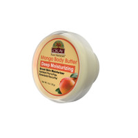 OKAY 100% Natural Mango Body Butter- Deep Moisturizing - Great Skin Moisturizer- Restores Moisture To Dry Damaged Skin - Reduces Skin Damage-Heals & Nourishes -Made In USA 1oz