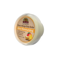 OKAY 100% Natural Shea & Mango Body Butter- Deep Moisturizing - Great Skin Moisturizer- Restores Moisture To Dry Damaged Skin - Reduces Skin Damage-Heals & Nourishes -Made In USA 1oz