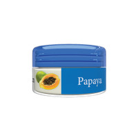 Organic Flavor Lip Balm Jar - Papaya - Formulated With Organic Ingredients - Helps Moisturize, Soothe, And Protect Lips- Silicone, Paraben Free For All Skin Types - Made in USA -  0.16oz/5gr