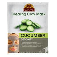 Healing Clay Mask- Cucumber - Detoxify- Help soothe Dehydrated Skin- Reduces Appearance of Dark Spots- Helps Reduce Toxins Trapped In Skin - Promotes Healthy Skin- Made In USA  1.50 fl.oz /44ml