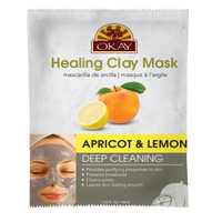 Healing Clay Mask- Apricot & Lemon - Deep Cleaning- Provides Purifying Properties To Skin- Prevents Breakouts- Cleans Pores- Leaves Skin Feeling Smooth- Made In USA  1.50 fl.oz /44ml