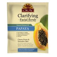 Papaya Facial Scrub for Clarifying Skin- Moderately Exfoliates-Removes Dirt, & Oil- leaves Skin Freshly Cleansed, Moisturized - Helps Clear Blemishes, Minimize Pores, Leaves Skin Smooth-Alcohol, Sulfate, Paraben Free-Made in USA 1.50 fl.oz /44ml