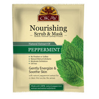 Peppermint Facial Scrub + Mask for Nourishing Skin- Removes Dirt, & Oil- leaves Skin Freshly Cleansed, Moisturized & Energized- Helps Clear Blemishes, Minimize Pores, Leaves Skin Smooth - Alcohol, Sulfate, Paraben Free - Made in USA 1.50 fl.oz /44ml