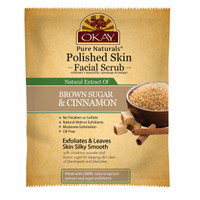Polished Skin Brown Sugar & Cinnamon Facial Scrub- Helps Clear Blemishes, Clear Dead Skin Cells, Leaves Skin Refreshed - Alcohol, Sulfate, Paraben Free - Made in USA 1.50 fl.oz /44ml