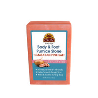 Himalayan Pink Salt Body & Foot Detoxifying Pumice Stone - For All Skin Types -Made In USA - 8oz 10.5oz / 300gr