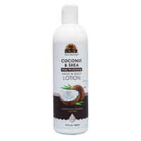 Coconut & Shea Deep Moisturizing Body Lotion- Moisturize, Nourish, Soothe, Soften Skin- Repairs Damaged Skin- Silicone, Paraben Free For All Skin Types- Made in USA 12oz / 355 ml